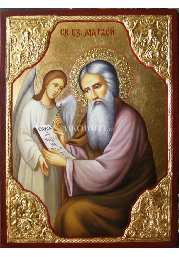 Рисувана икона на Свети Матей Евангелист