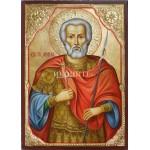 Ръчно рисувана икона със злато Св. Мина
