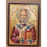 Малка дървена икона на Свети Николай
