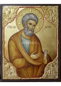 Висококачествен принт - Свети Петър - малка дървена икона