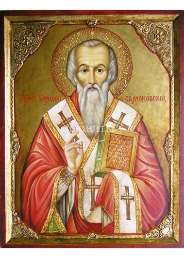 Рисувана икона на Свети Симеон Самоковски