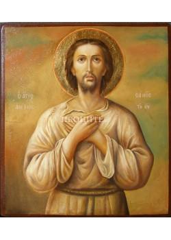 Икона на Свети Алексий човек Божи - декупаж