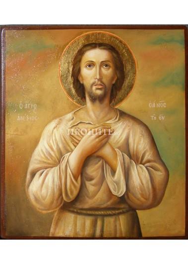 Репродукция на икона на Свети Алексий човек Божи