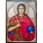 Малка дървена икона на Свети архангел Михаил
