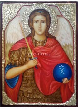 Икона малка - от дърво - Свети архангел Михаил
