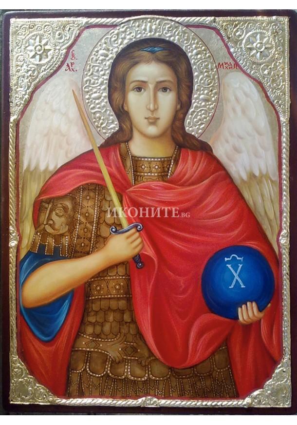 Рисувана златна икона Св. архангел Михаил