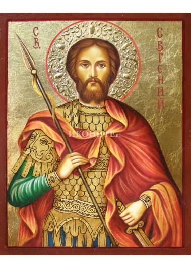 Рисувана икона на Свети Евгений