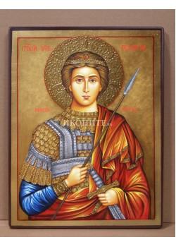 Икона на Свети Георги Победоносец - декупаж