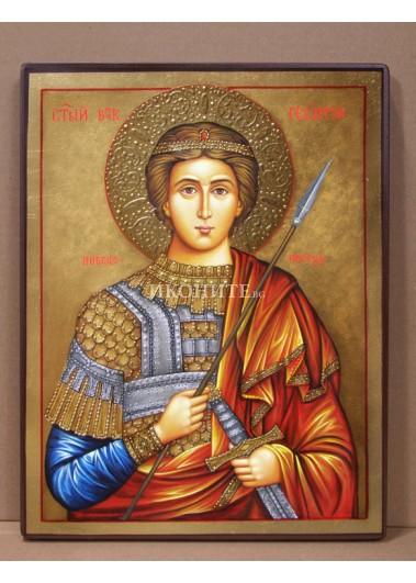Рисувана икона на Свети Георги Победоносец