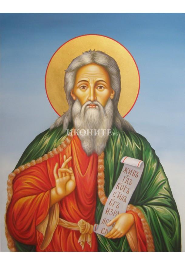 Икона на Свети Илия - декупаж