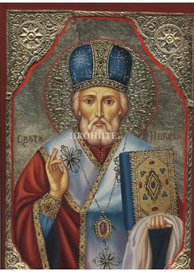 Икона на Свети Николай Чудотворец - декупаж