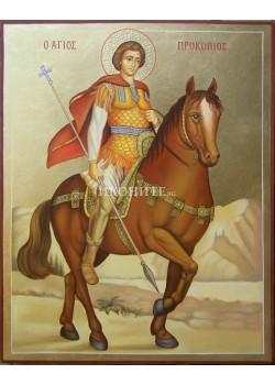 Малка дървена икона на Свети Прокопий