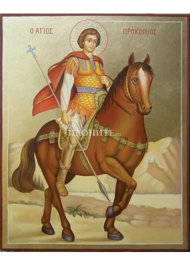 Икона на Свети Прокопий - декупаж