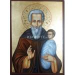 Рисувана икона на Свети Стилиян