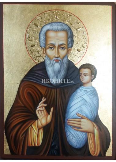 Икона на Свети Стилиян - декупаж