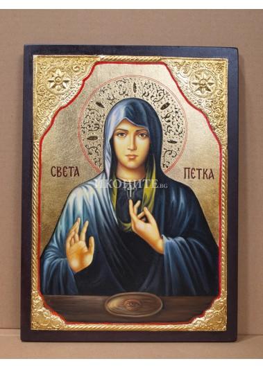 Икона на Света Петка - малка дървена икона