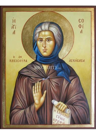 Златна ръчно рисувана икона Св. София