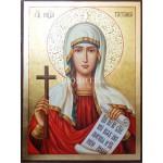 Ръчно рисувана икона със злато Св. Татяна
