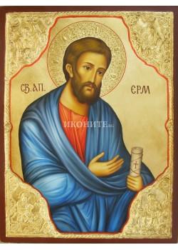 Рисувана икона на Свети Апостол Ерм с Евангелистите