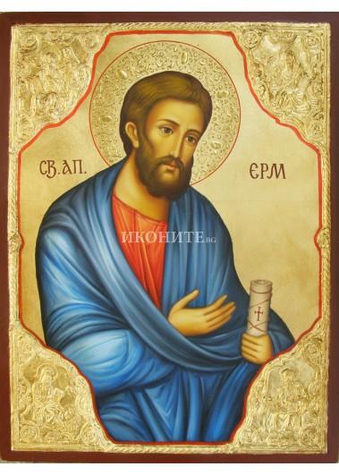 Златна икона Св. Апостол Ерм с Евангелистите