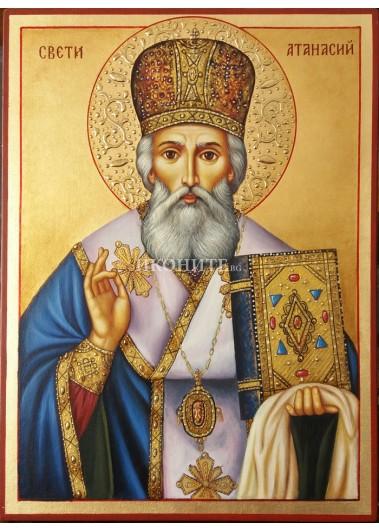Рисувана икона на Свети Атанасий