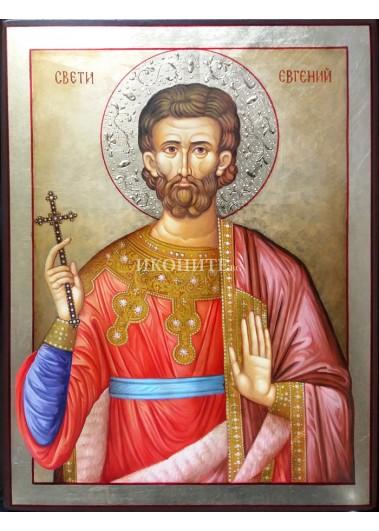 Икона на Свети Евгений - декупаж