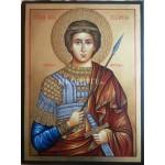 Рисувана икона със злато Св. Георги