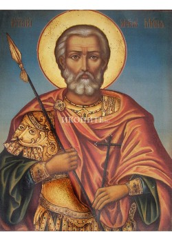 Икона на Свети Мина - декупаж