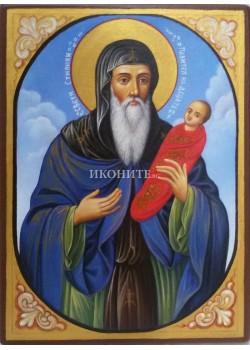 Рисувана златна икона Св. Стилиян