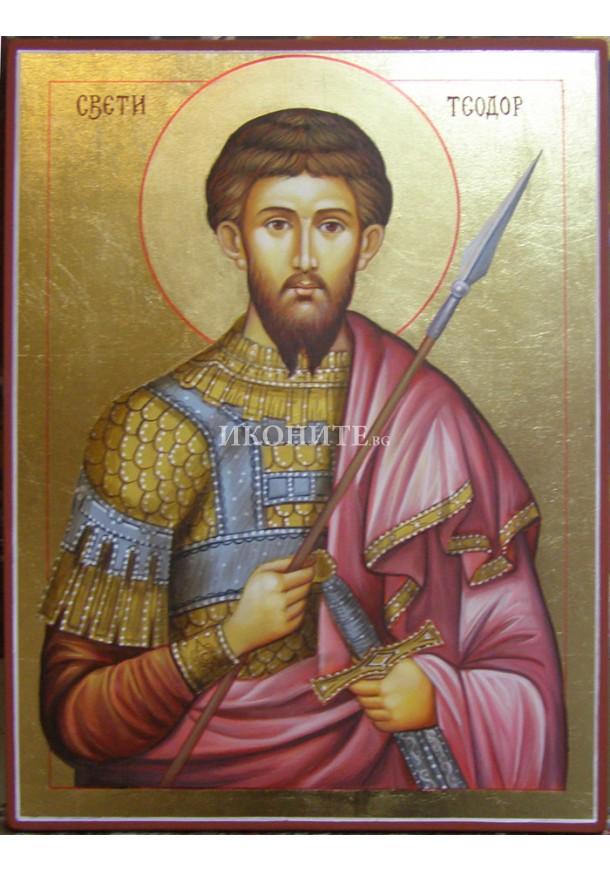 Икона на Свети Теодор - декупаж