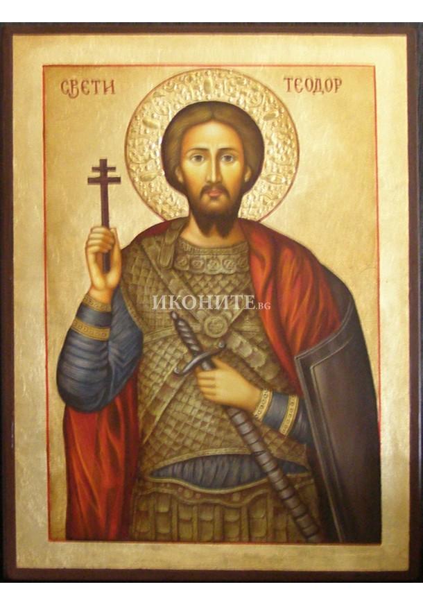 Рисувана икона на Свети Теодор