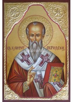 Репродукция на икона на Свети Климент Охридски