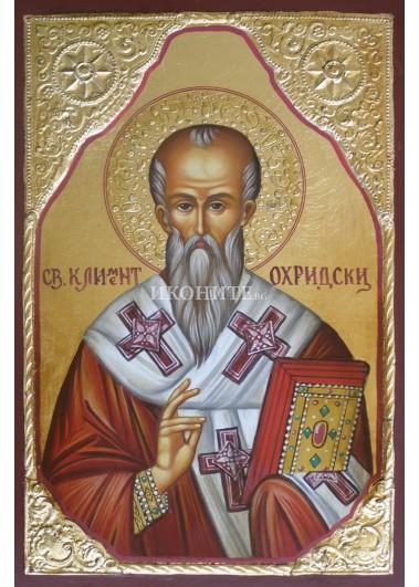 Рисувана икона на Свети Климент Охридски