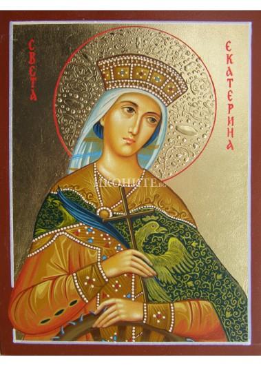 Малка дървена икона на Света Екатерина