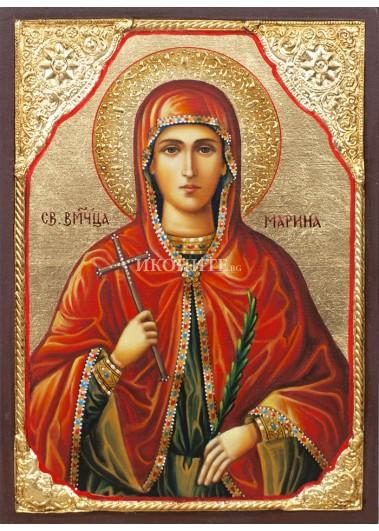 Икона на Света Марина - декупаж