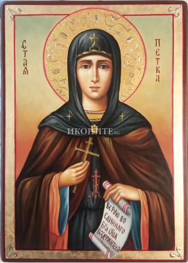 Рисувана икона на Света Петка