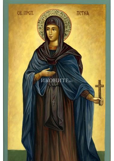 Рисувана икона на Света Преподобна Петка