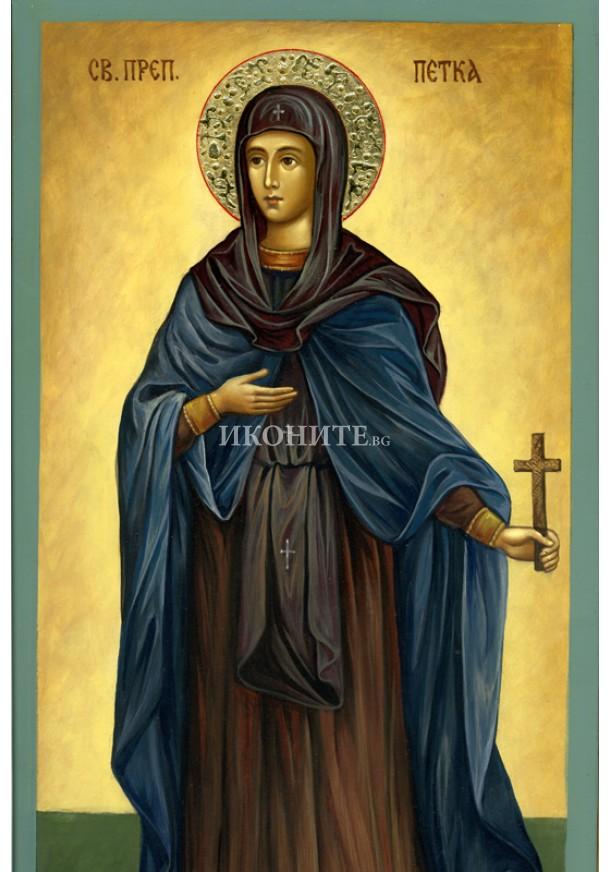 Репродукция на икона на Света Преподобна Петка