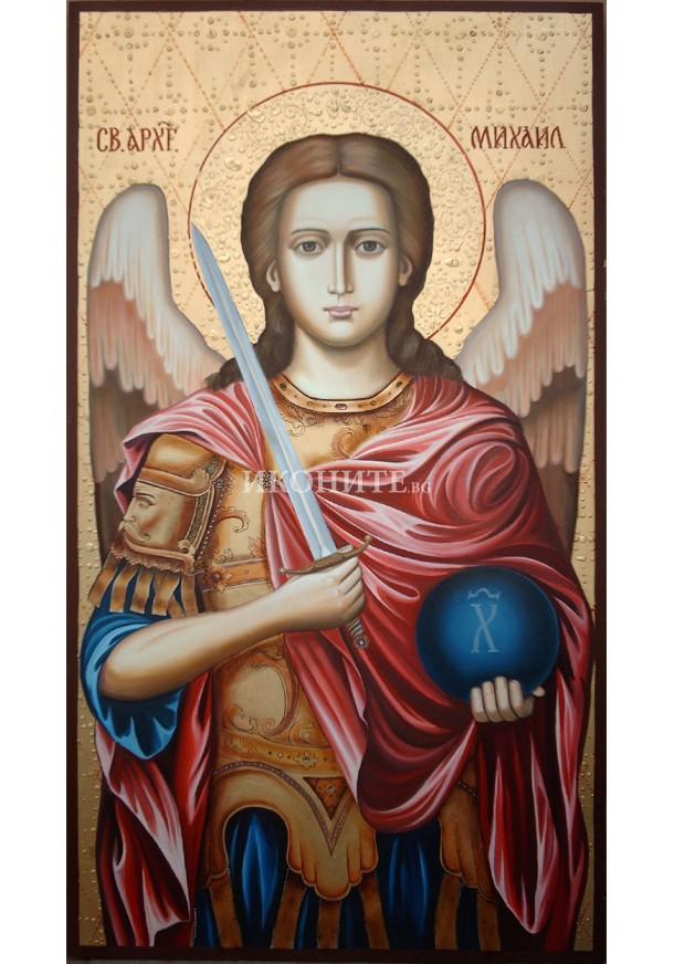 Икона на Свети Архангел Михаил - декупаж
