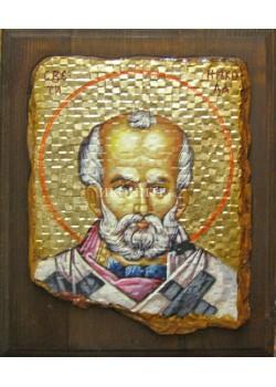 Икона на Свети Николай - декупаж