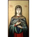 Малка дървена икона на Света Петка