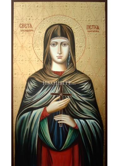 Икона на Света Петка - декупаж