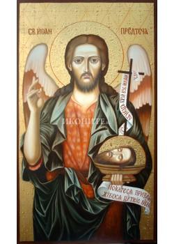 Икона на Свети Йоан Предтеча - декупаж