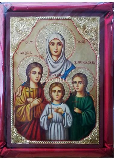 Репродукция на икона на Света София, Вяра, Надежда и Любов