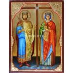 Репродукция на икона на Св. равноапостолни цар Константин и царица Елена
